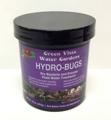 16 oz Green Vista Hydro-Bugs Dry Bacteria & Enzyme Pond Water Treatment- garden