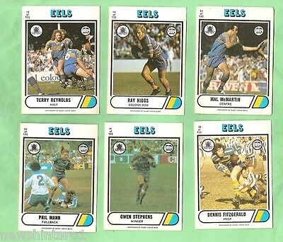 1976 Parramatta Eels  Scanlens  Rugby League Cards