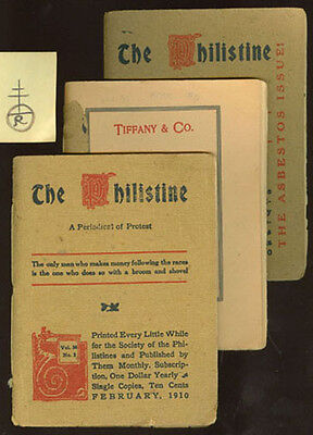 1910 Roycroft Phillistine 3 Booklets W/ All Ads Tiffany + At&t Etc *on Sale* P3