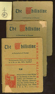 1908/10 Roycroft Phillistine Set Of 3 Booklets Complete W/all Ads **on Sale** P5