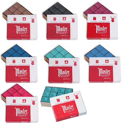 A BOX OF 12 x PIECES OF MASTER TWEENTEN CHALK IN VARIOUS COLOURS