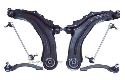 Renault Scenic Mk2 Front 2 Suspension Wishbone Arms Links + Outer Track Rod Ends