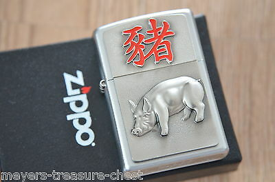 Original ZIPPO Year of the pig collectible Edition Chinese Zodiac