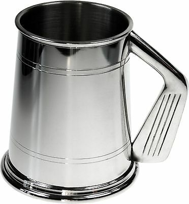 Personalised 1 Pint Wentworth Pewter Golf Handle Tankard Engraved Gift