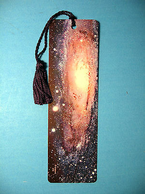 """Andromeda""  Galaxy Image onTassel Bookmark (navy blue tassel)-Sku# 370"