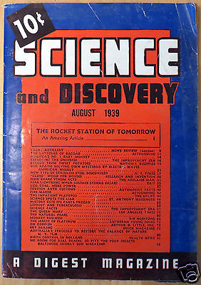 August 1939 Science and Discovery Magazine