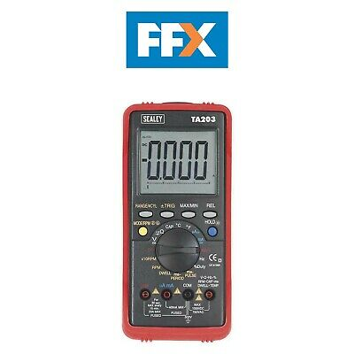 Sealey TA203 Automotive Digital Multimeter 15 Function Bar Graph/PC Link