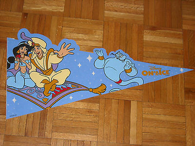 Aladin  Must See !!!!!! Awesome Disney on Ice Full Size Felt Pennant