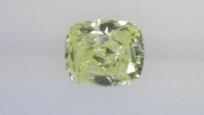 GIA Cert 0.25ct Cushion cut diamond NATURAL FANCY GREEN-YELLOW  SI-2. Beautiful.