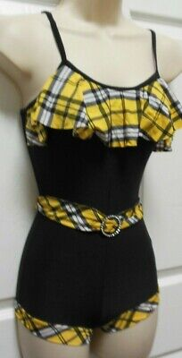 Nwt Flag Gold Plaid Hottard Child Adult W/belt Jazz Tap Wolff Fording Costume