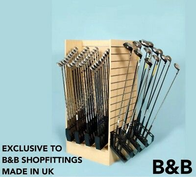 Golf Shop Club Holder/ Retail Display/ Slatwall/ Woods Club Support/ Free Post