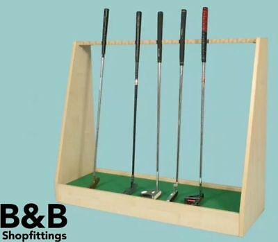 Golf Club Shop Retail Display Unit Holds 23 Putters - Maple Oak Or Cherry 100 Cm