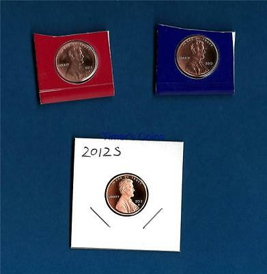 2012 P D and S BU/Proof Lincoln Cent Penny Set- 3 Coins-IN STOCK