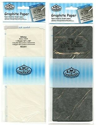 "Grey Or White Graphite Tracing Paper For Dark & Light Surfaces Size 18"" X  36"""