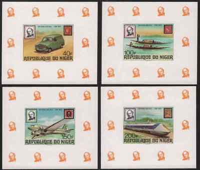 Niger 1979 Rowland Hill set imperf deluxe SSs
