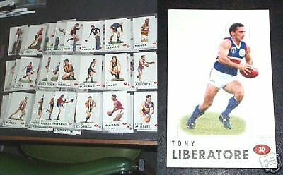 1996 Set Of 72 Australian Rules Football Select Stand  Up Sticker Cards