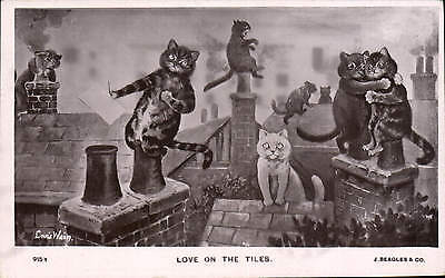 Louis Wain. Love on the Tiles by J. Beagles # 915 Y.