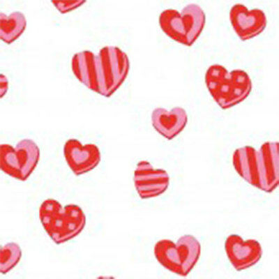 Hearts Print Tissue Paper Multi Listing 500x750mm