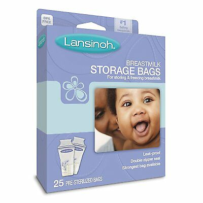 Lansinoh Breastmilk Storage Bags (25) - Fast Shipping - Great Price
