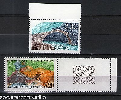 ANDORRE - 1990 YT 385 à 386 - TIMBRES NEUFS** LUXE