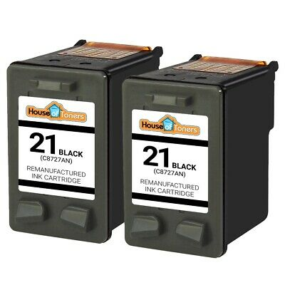 Black for HP 21 Ink Cartridges for HP21 C9351AN Cartridge 2PK