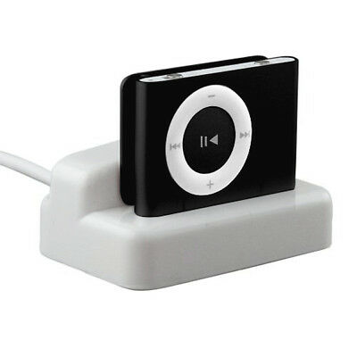 White USB Charger & Sync Dock Cradle for Apple iPod - By TRIXES