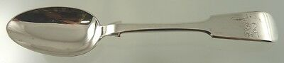 "FIDDLE BACK or TIPPED LARGE TEASPOON STERLING BY HENDERY & LESLIE ""J&EF"" 1887-99"