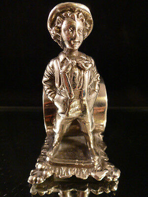 Victorian Figural Napkin Ring - Tom Sawyer  Barbour Silver Co.  # 8