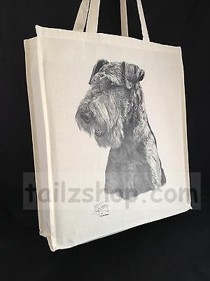 Airedale Terrier Cotton Shopping Bag with Gusset and Long Handles Perfect Gift