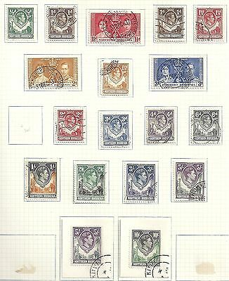 Northern Rhodesia collection of 18 stamps  CANC  VF