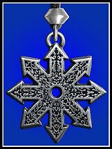 The Star of Chaos  Divine Fire Wheel Talisman Wicca Pagan Amulet