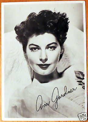 Moxie Stars 5X7 Black/White Glossy Photo Ava Gardner
