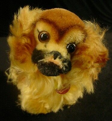 Vintage STEIFF PEKY PEKINGESE DOG w/TAG Stuffed Animal Toy From OLD COLLECTION