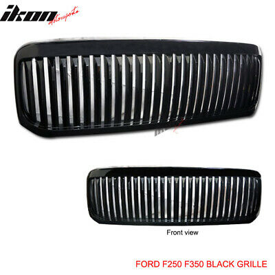 Fits 99-04 Ford F250 F350 Excursion Vertical Grille Black 00