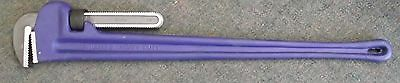 """JH Williams 13532 48"""" Long Cast Iron Pipe Wrench with Scale"""