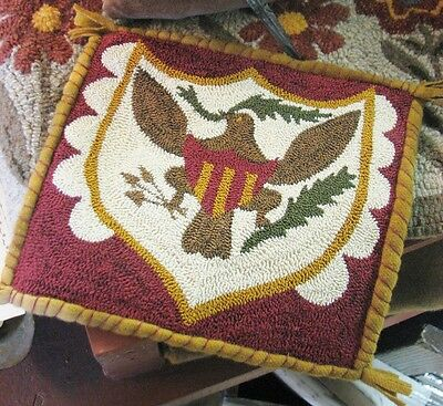 "Primitive Punch Needle Pattern ~ ""fraktur Eagle"""