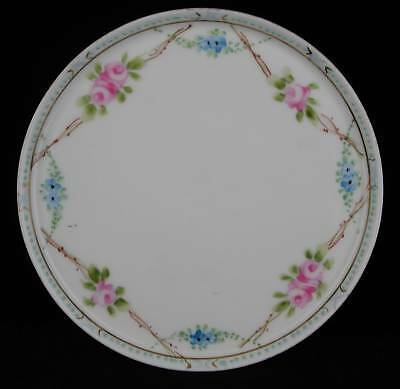 Nippon Rising Sun Hand Painted Round Tray Trivet c1921
