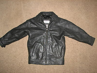 ~Amherst Collection Childrens Black Genuine Leather Jacket Sz.4T~ SUPER Cute~