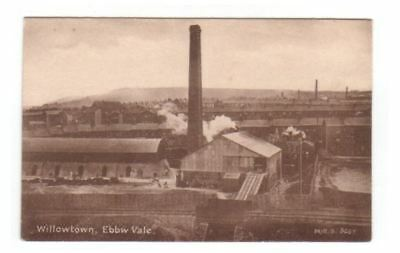 Monmouthshire postcard - Willowtown, Ebbw Vale (Industrial)