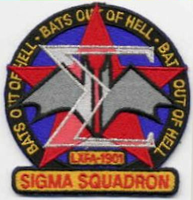 "B5   Babylon 5 Sigma Squadron Embroidered Patch - ""Bats Out of Hell"""