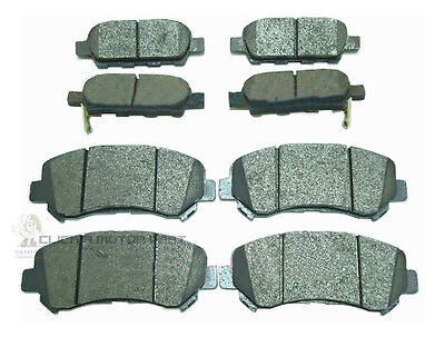 FOR NISSAN X-TRAIL MK2 2.0 DCi 2.5 07-15 FRONT AND REAR BRAKE DISC PADS SET NEW