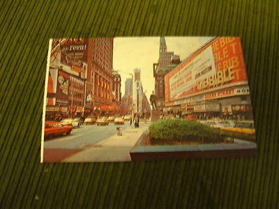 NEW YORK CITY TIMES SQUARE  CIRCA 1960'S  UNCIRCULATED