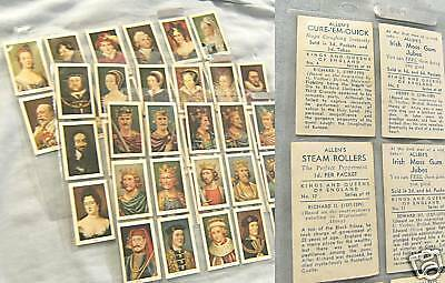 1937 Allens Sweets Kings & Queens Of England Card Set