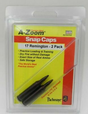A-ZOOM Action Proving Dummy Round Snap Cap 17 Rem  2  Pack   # 12217   New!