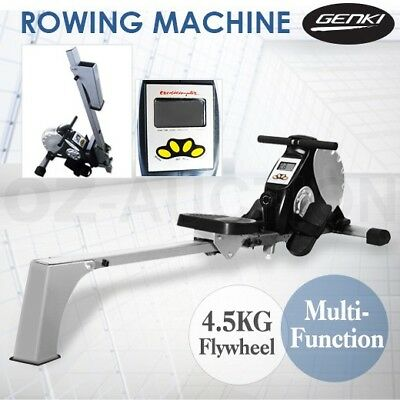 Exercise Rowing Machine Fitness Magnetic Flywheel Gym Power Rower Resistance