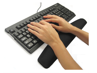 Black Gel Wrist Rest Support Pad Wrist Rest for PC Keyboard - By TRIXES