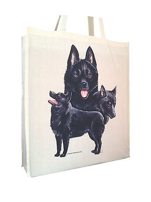 Schipperke Cotton Shopping Bag with Gusset for Xtra Space Perfect Gift