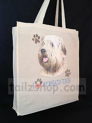 Wheaten Terrier Cotton Shopping Bag with Gusset for Xtra Space Perfect Gift