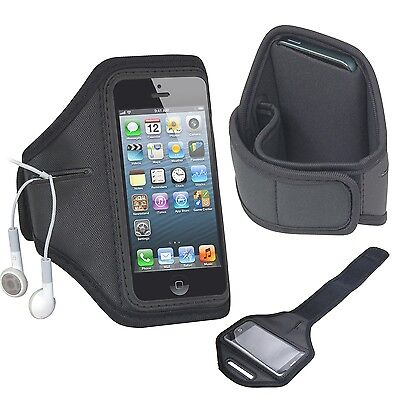 TRIXES Black Gym Outdoor Sport Running Arm Band Case for New iPhone 5