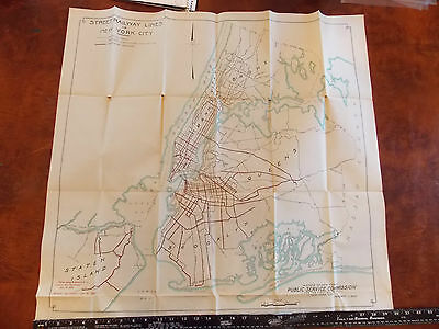 RARE 1919 NYC New York City 28 x 30 Brooklyn Trolley Subway Transit Queens MAP